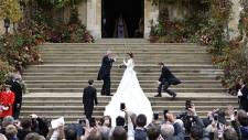 Princess Eugenie arrives for her wedding ceremony