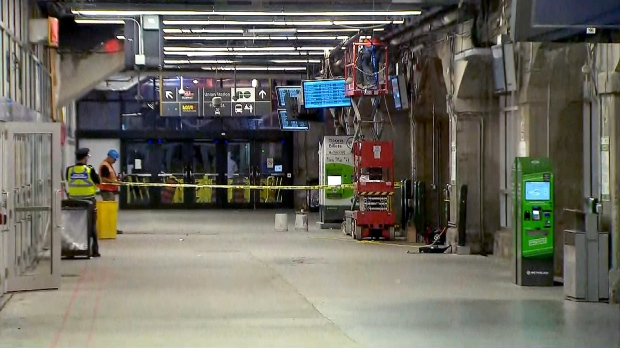 Minor repairs to the Bay West Teamway at Union Station were made after a piece of concrete fell from the ceiling and onto a pedestrian on October 11, 2018.