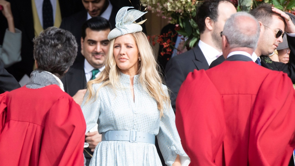 British singer-songwriter Ellie Goulding attends the royal wedding ceremony of Princess Eugenie of York and Jack Brooksbank at St George's Chapel at Windsor Castle, in Windsor, Britain, 12 October 2018. EPA/FACUNDO ARRIZABALAGA