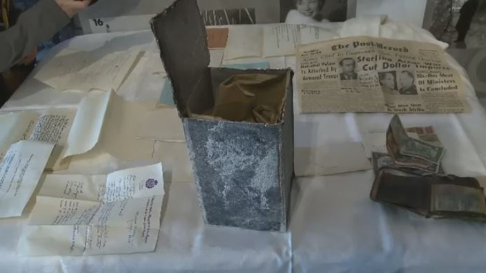 A 69-year-old time capsule was opened in North Sydney on Oct. 11, 2018.