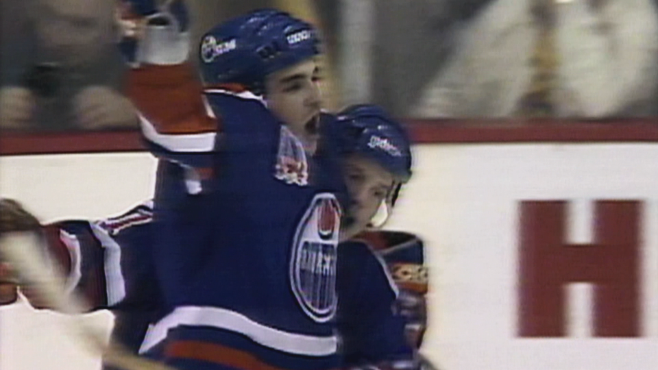 Joe Murphy when he played for the Stanley Cup-winning Edmonton Oilers in 1990.
