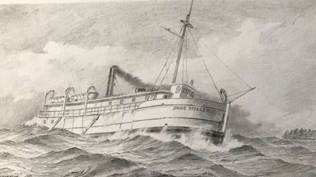 The shipwreck is believed to be the ruins of the Jane Miller. (Handout)