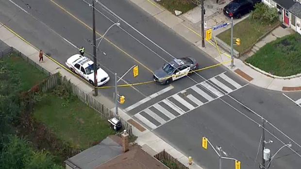 Pedestrian struck in the east end