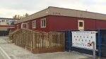 The modular building located at 22534 Royal Cres. will offer support services for residents, and will be operated by Coast Mental Health.
