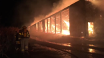 A hay barn on fire in Aylmer cost an estimated $3 million in damage.