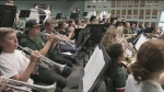 The Patrick Fogarty Catholic Secondary School concert band practices in Orillia, Ont. on Thursday, October 11, 2018. (Rob Cooper/CTV News)
