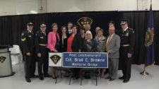 Memorial bridge dedication for Cst. Brad C. Browne