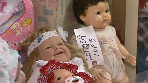 Maurine Arsenault and her husband are selling off their collection of thousands of dolls spanning 100 years of toys.
