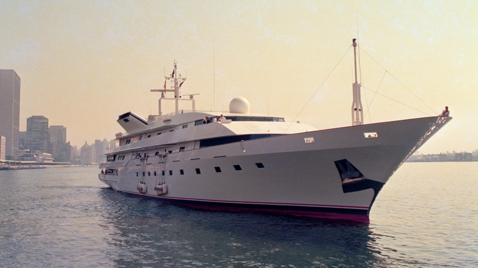 This is a July 4, 1988 file photo of Donald Trump's yacht, the Trump Princess, in New York City. (AP Photo/Marty Lederhandler, File)