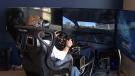 Cannabis user takes a driving test