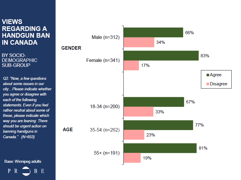 Handgun ban poll by demographics