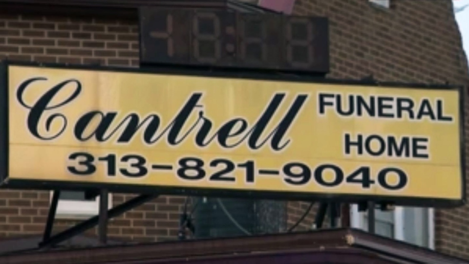 The bodies of 11 babies were found in the Cantrell Funeral Home eight months after it was ordered to close, authorities in Detroit say. (WDIV / CNN)