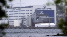 The Irving Shipbuilding facility is seen in Halifax on June 14, 2018. (THE CANADIAN PRESS/Andrew Vaughan)