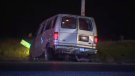 Fatal crash on Trussler Road after a man is ejected from a van.