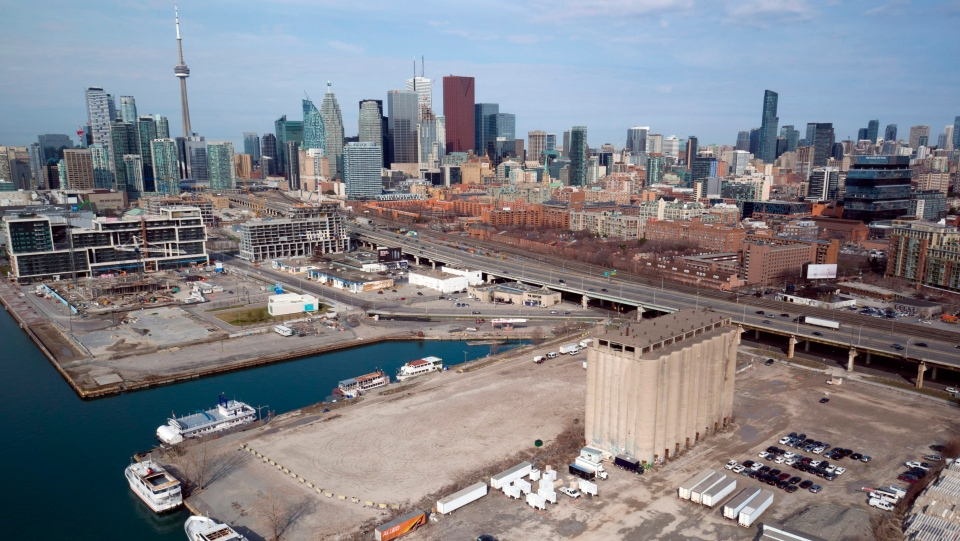This undated photo provided by Sidewalk Toronto shows the eastern waterfront of Toronto. (THE CANADIAN PRESS/HO-Sidewalk Toronto)