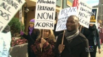 Affordable housing rally in Toronto