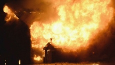 A barn fire in Sheffield Mills, N.S.