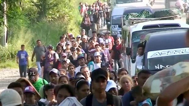 A migrant caravan