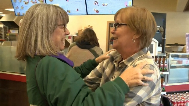 Nobel Prize winner Donna Strickland meets woman with same name