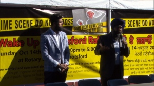 Wake Up Abbotsford held a rally at Rotary Stadium to voice concerns over growing gang violence.