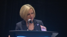 Alberta Premier Rachel Notley speaks to the Alberta Teachers' Association in Edmonton.