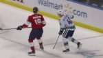 Canucks' Peterson suffers nasty hit