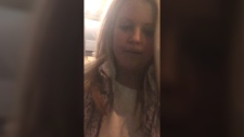 Woman blocks man from entering his apartment