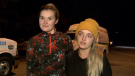 Hikers Nicole Wilson, left, and Sarah Fitzharris were spared a chilly night outdoors thanks to search and rescue crews. Oct. 14, 2018.