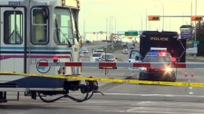 A child was rushed to Alberta Children's Hospital after she was hit by a CTrain at the Somerset-Bridlewood Station on Monday, October 15, 2018. (CTV Calgary)