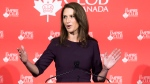 Caroline Mulroney, Attorney General of Ontario, addresses the Empire Club of Canada regarding the federal legalization of cannabis in Toronto on Tuesday, October 9, 2018. THE CANADIAN PRESS/Nathan Denette