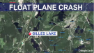 A float plane crashed in Gillies Lake