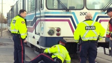 A child has died after being struck by a CTrain at Somerset-Bridlewood Station in Calgary.