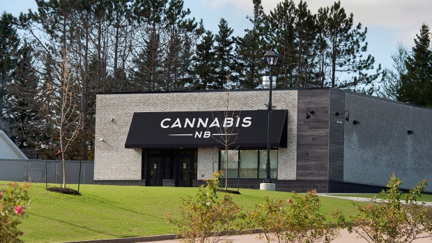 When cannabis becomes legally available to buy on Oct. 17, 2018, residents can make their purchases at 20 Cannabis NB retail stores across the New Brunswick. The location in Sackville, N.B. is seen on Sunday, Oct. 14, 2018. (THE CANADIAN PRESS/Andrew Vaughan)