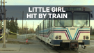Calgary girl hit by train while walking to school