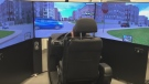 As part of the study, young adults got behind the wheel of a driving simulator after inhaling the equivalent of less than one joint. (Josh Crabb/CTV News)