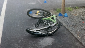 Bike of Andy Nevin, found at scene of fatal accident.