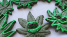 Cannabis-free pot leaf cookies at Radical Gardens