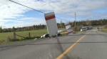 Small plane crashed on Old Almonte Rd. Tuesday morning.