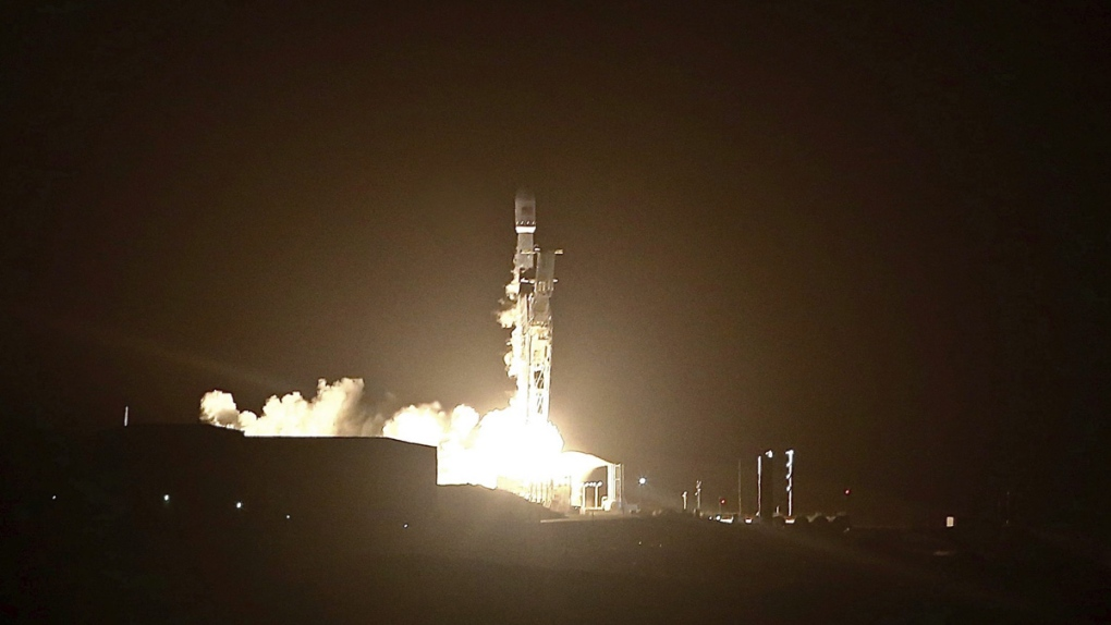 SpaceX Falcon 9 rocket blasts off