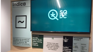 Information about the various strains of cannabis on offer at the SQDC will be available in stores (CTV Montreal/Cindy Sherwin)