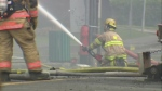 Firefighters in Magog