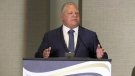 Premier Doug Ford speaks to the Ontario Provincial Police Association, in The Blue Mountains, Ont., on Oct. 16, 2018.