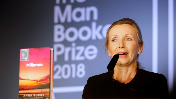 Northern Irish author Anna Burns' 'Milkman' wins Man Booker Prize