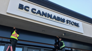 The BC Cannabis Store in Kamloops was the only provincially licensed store to open on legalization day, Oct. 17, 2018. (CTV News)