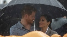 Prince Harry and Meghan, Duchess of Sussex attend a community picnic at Victoria Park in Dubbo, Australia, on Oct. 17, 2018. (Ian Vogler/Pool via AP)