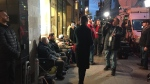 Montrealers line up at a government-run cannabis store early in the morning of Wed., Oct. 17, 2018. (Photo: CTV Montreal)