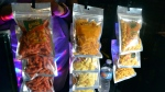 "In this Sept. 11, 2017, photo, a display of Creatos, Weed-Itz and Flavorblaster marijuana infused edibles in Washington, at a closed Ethiopian restaurant at a ""gifted"" marijuana event. (AP Photo/P. Solomon Banda)"