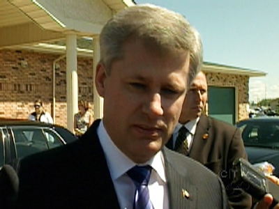 Prime Minister Stephen Harper speaks about Batters' battle with depression on Saturday, July 4, 2009.