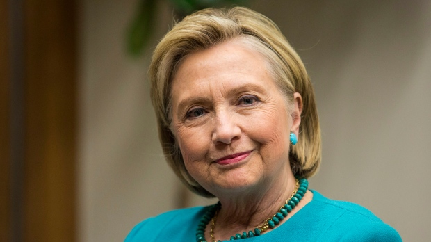 hillary clinton apparently unharmed in parking garage crash ctv news