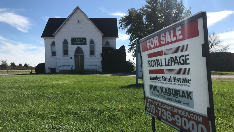 The Malden Community and Cultural Centre at the end of Howard Avenue is for sale in Amherstburg, Ont., on Tuesday, Oct. 17, 2018. (Rich Garton / CTV Windsor)